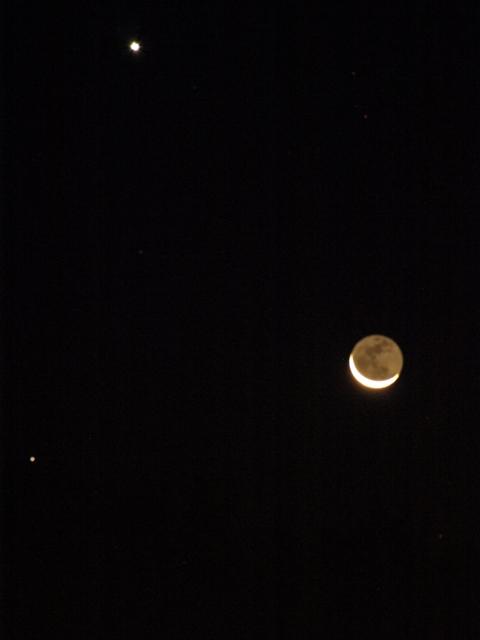 金星と月とレグルス090917.JPG